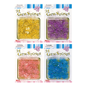 SALE! 24 PCS BEE GEM STONES (48 PACKS) PF-7462