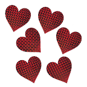 "SALE! 6 PCS 7"" LASER HEART CUTOUTS (48 PACKS) PF-8494"