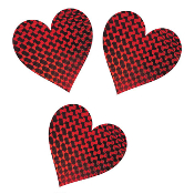 "SALE! 3 PCS 10"" LASER HEART CUTOUTS (48 PACKS) PF-7063"