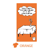 "ORANGE - 54"" X 108"" TABLECOVER (24 PACKS) PF-6722"