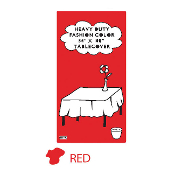 "RED - 54"" X 108"" TABLECOVER (24 PACKS) PF-6716"