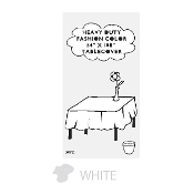 "WHITE - 54"" X 108"" TABLECOVER (24 PACKS) PF-6701"