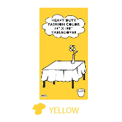 "YELLOW - 54"" X 108"" TABLECOVER (24 PACKS) PF-6704"