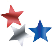 SALE! 3 PACK LASER STAR CUTOUT (48 PCS) PF-8465