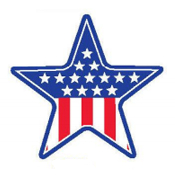 SALE! 3 PACK USA FLAG STAR CUTOUT (48 PCS) PF-8466