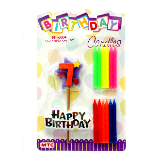 STAR CANDLE SET #7 (24 PCS) PF-6004