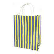 SALE! 144 PCS YELLOW MEDIUM STRIPES KRAFT GIFT BAGS PF-2149