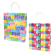SALE! 144 PCS BIRTHDAY MEDIUM KRAFT GIFT BAGS ASSORT PF-2233