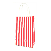 SALE! RED SMALL STRIPES KRAFT GIFT BAGS (48 PACKS) PF-2208