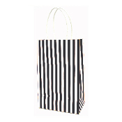 SALE! 144 PCS BLACK SMALL STRIPES KRAFT GIFT BAGS PF-2211