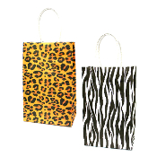 SALE! 144 PCS ANIMAL SMALL KRAFT GIFT BAGS ASSORTED PF-2239