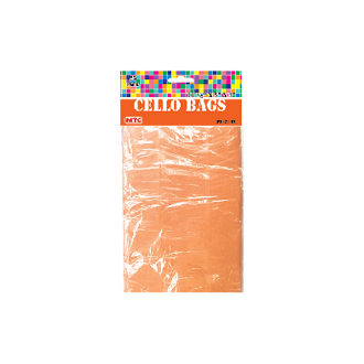 "45 PCS ORANGE CELLO BAGS 4""W X 6""L X 2""D (24 PACKS) PF-2279"