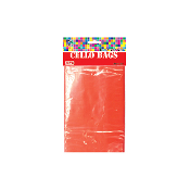 "45 PCS RED CELLO BAGS 4""W X 6""L X 2""D (24 PACKS) PF-2282"