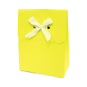 SALE! 6 PCS FAVOR GIFT BOX W/ RIBBON - YELLOW (48 PACKS) PF-2247
