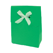 SALE! 6 PCS FAVOR GIFT BOX W/ RIBBON - GREEN (48 PACKS) PF-2248