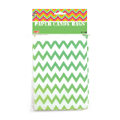 20 PCS ZIGZAG TREAT BAGS - GREEN (24 PACKS) PF-2086