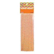 20 PCS ZIGZAG PAPER STRAWS - ORANGE (24 PACKS) PF-2094