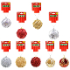 BEADED BALL ORNAMENT - ASSORTED (48 PCS) 33095