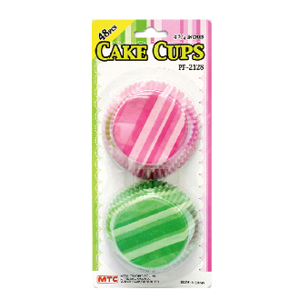 "48 PCS 4.75"" STRIPE PATTERN CAKE CUPS (24 PACKS) PF-2128"