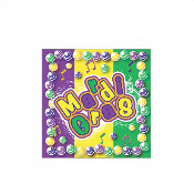 SALE! 24PCS MARDI GRAS BEVERAGE NAPKINS (48 PCS) PF-13116