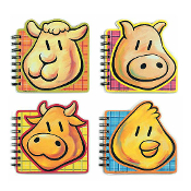 SALE! 6 PCS FARM ANIMAL NOTE BOOK - 80 SHEETS (24 PCS) PF-7501