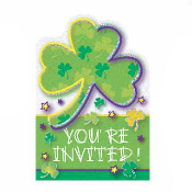 SALE! 24PCS ST PATRICK'S INVITATIONS (48 PCS) PF-13251