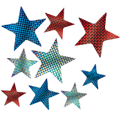 SALE! 9 PACK LASER STAR CUTOUT (48 PCS) PF-8464