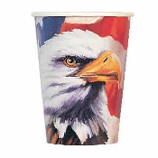 SALE! 8 PCS 9 OZ CUP - USA EAGLE (48 PKT) PF-17500