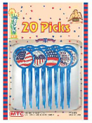SALE! 20 PCS PICKS - PATRIOTIC (48 PKT) PF-7108