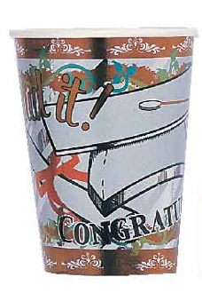SALE! 6 PCS 9 OZ FOIL CUPS - GRAD (48 PACKS) PF-11470