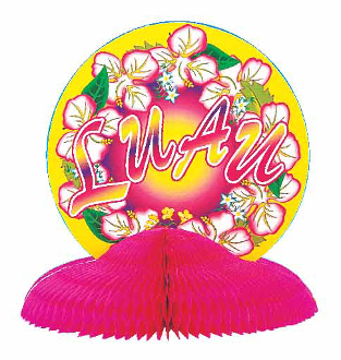 "SALE! 10"" CENTERPIECE - LUAU (48 PCS) PF-7647"