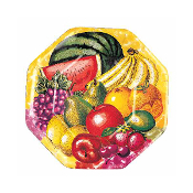 "SALE! 8 PCS 7"" PLATES - TROPICAL FRUITS (48 PCS) PF-20705"