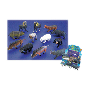"6""- 8"" WILD ANIMALS - 6 ASSORTMENT (48 PCS) 33283"