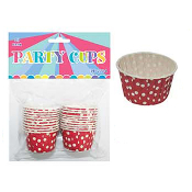 "20 PCS 2"" X 1.25"" POLKA DOT PARTY CUPS - RED (24 PACKS) PF-2224"