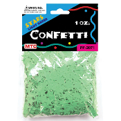 1 OZ LIGHT GREEN STAR CONFETTI (24 PACKS) PF-2071
