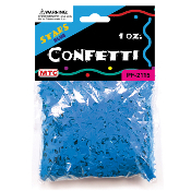 1 OZ BLUE STAR CONFETTI (24 PACKS) PF-2115