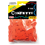 1 OZ ORANGE DOT CONFETTI (24 PACKS) PF-2118