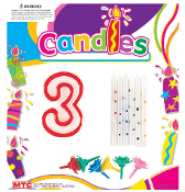 SALE! BIRTHDAY CANDLE SET- #3 (48 PCS) PF-8417-3