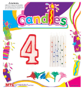 SALE! BIRTHDAY CANDLE SET- #3 (48 PCS) PF-8417-4