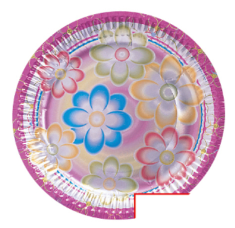 "SALE! 6 PCS 7"" PLATE - BIRTHDAY FLOWERS (48 PACKS) PF-5092"
