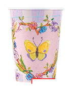 SALE! 8 PCS 9 OZ CUPS - BUTTERFLY HEART (48 PCS) PF-13300
