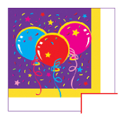 SALE! 16 PCS LUNCHEON NAPKIN - PARTY BALLOONS (48 PCS) PF-10102