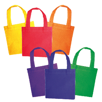 "3 PCS NON-WOVEN TOTE BAGS 6"" X 6"" (24 PACKS) PF-2322"