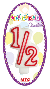"3"" NUMERAL #1/2 CANDLE (24 PCS) PF-2421"