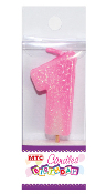 "2"" NUMERAL B'DAY CANDLE - #1 PINK (24 PCS) PF-2436"