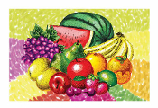 "SALE! 54""X108"" TABLECOVER - TROPICAL FRUITS (48 PCS) PF-20703"