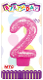 "3"" NUMERAL GLITTERED CANDLE - #2 PINK (24 PCS) PF-2327"