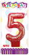 "3"" NUMERAL GLITTERED CANDLE - #5 (24 PCS) PF-2330"