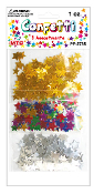 1 OZ. STAR CONFETTI - GOLD/SILVER/MULTI (24PACKS) PF-2735