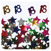 2/3 OZ. CONFETTI - #18 & STARS (24 PACKS) PF-2748